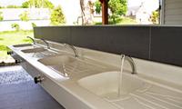 kitchen sink & laundry tub in Ker Eden campsite