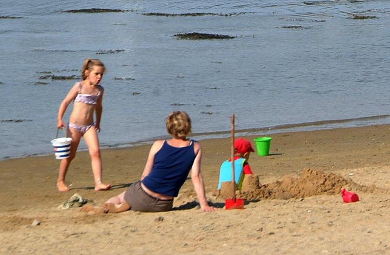 Jeux de plage au camping Ker Eden