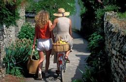 Promenade à pied et à vélo dans les ruelles et chemins autour du Golfe