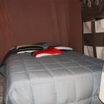 Chambre double de la tente Lodge Victoria Camping Ker Eden