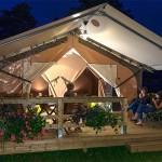 Tente Lodge Victoria la nuit Camping Ker Eden