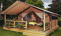 Location de tente Lodge Victoria pour 5 personnes Camping Ker Eden Larmor Baden