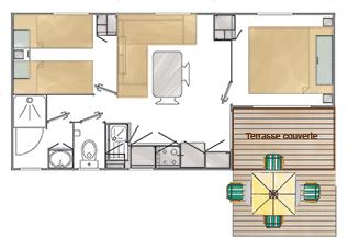 Plan Cottage Forban Camping Ker Eeden Larmor Baden