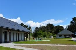 Réception et sanitaires au camping Ker Eden