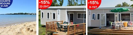 Promotions offres spéciales au camping Ker Eden bord de mer Golfe du Morbihan