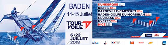 Tour de France à la Voile dans le Golfe du Morbihan Baden