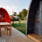 Pods for hikers around the Gulf of Morbihan