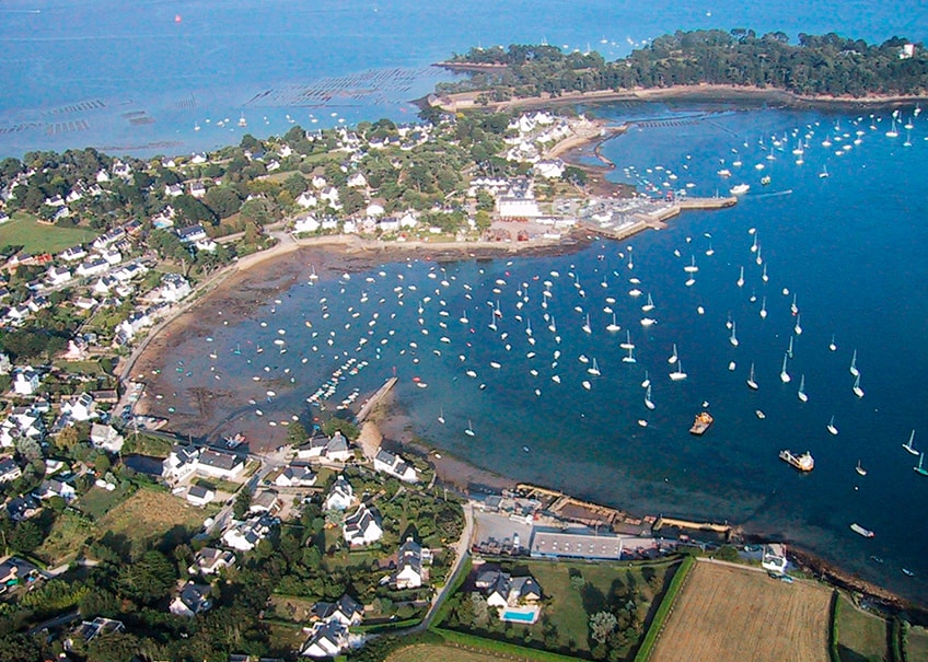 Vue aérienne du Golfe du Morbihan Larmor Baden