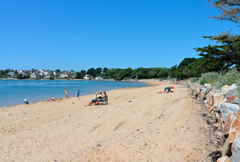 Plage de Locmiquel Golfe du Morbihan