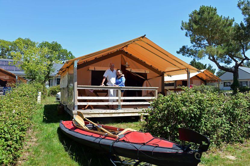 Tente Lodge au camping Ker Eden