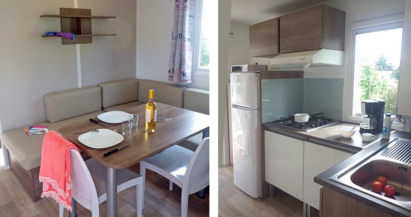 Cuisine et salon du cottage Forban