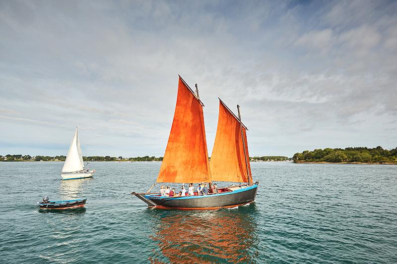 Voile dans le Golfe du Morbihan © A. Lamoureux OT Golfe du Morbihan