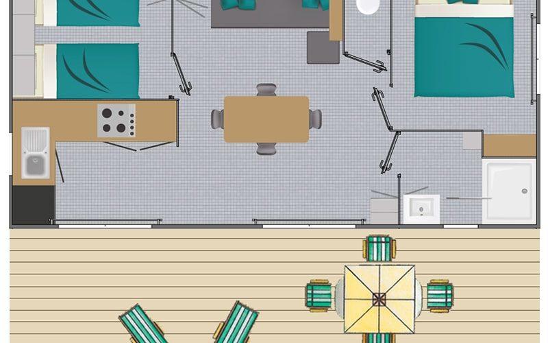 Plan du cottage Goélette