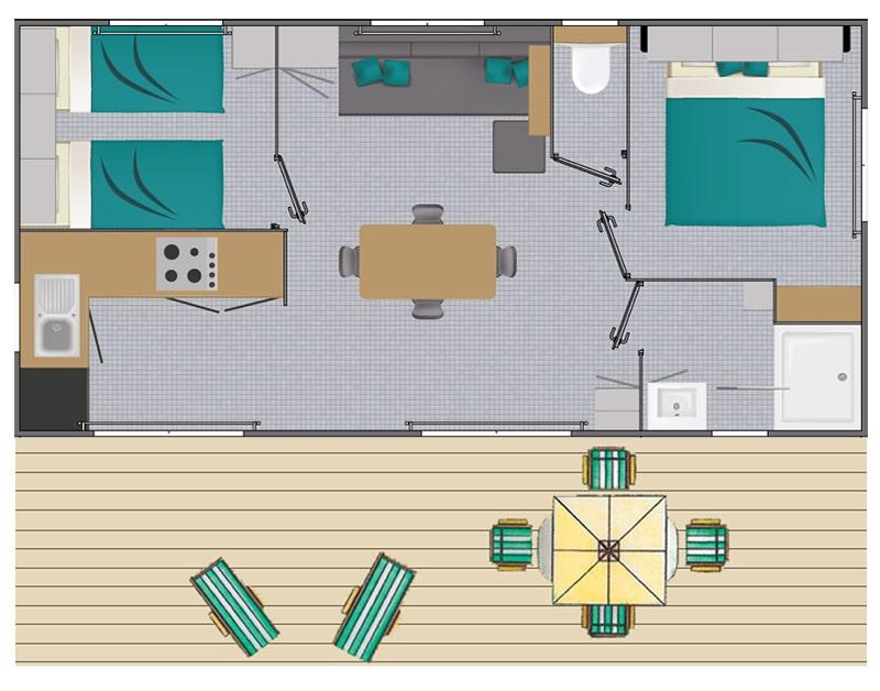 Plan du cottage Grand Large