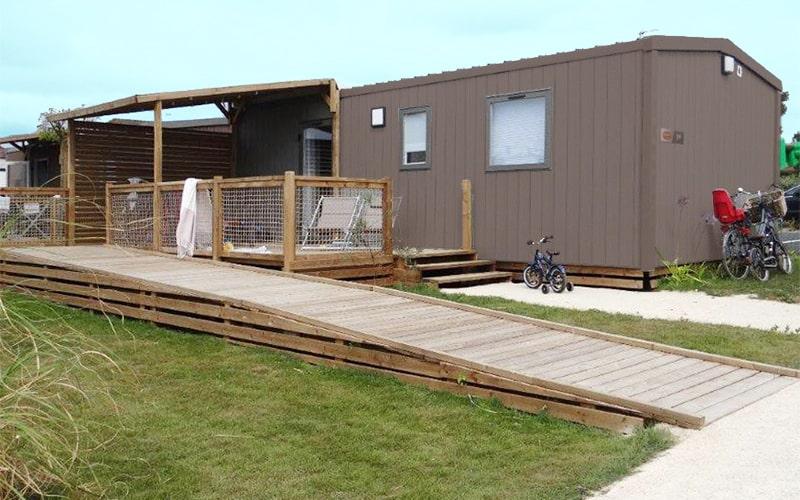 Tout est prévu pour un accès facilité à la terrasse