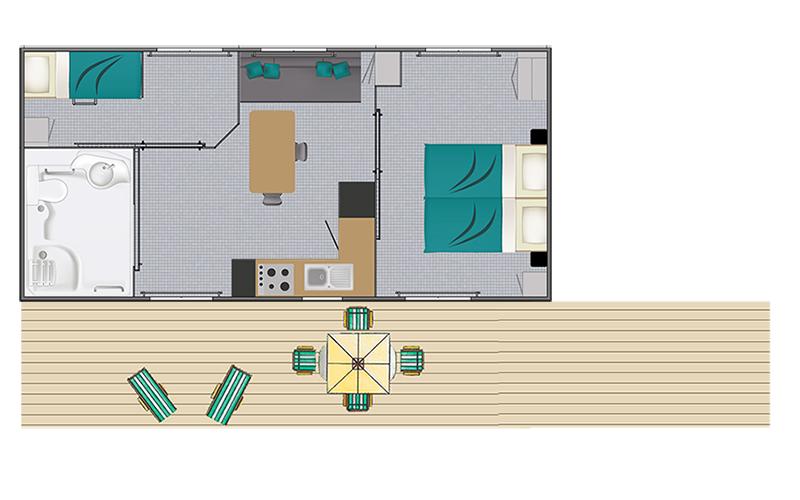 plan du mobil-home Vacances PMR