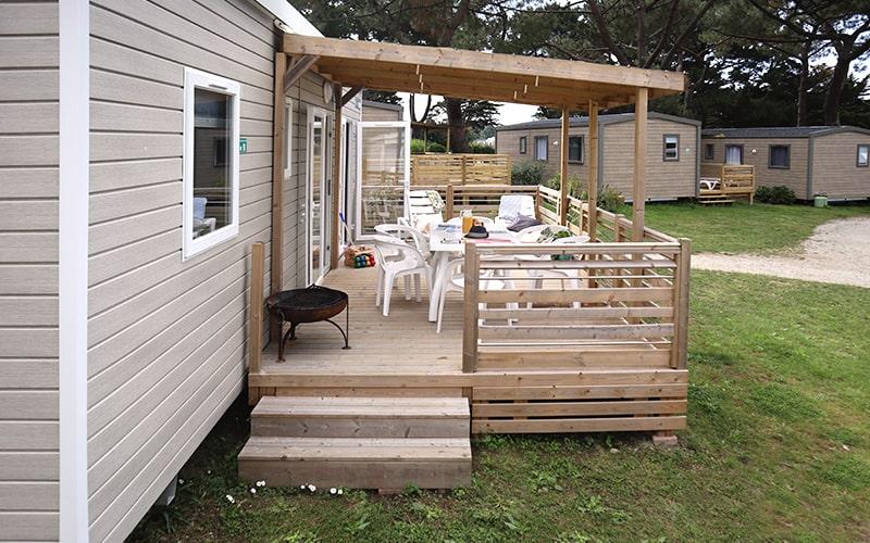 Terrasse du cottage Caravelle