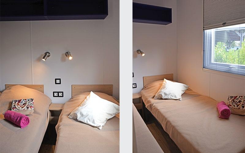 L'une des deux chambres enfants avec 2 lits simples
