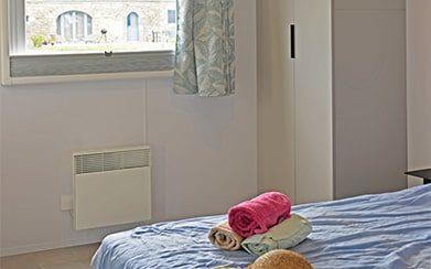 Chambre parents du cottage Vacances PMR